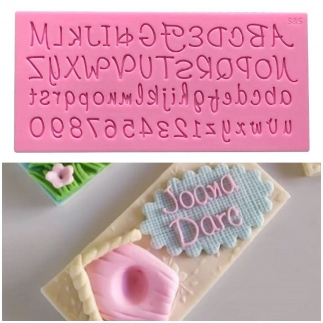 Molde de Silicone Alfabeto Maiúsculo e Minúsculo para Decora Letras