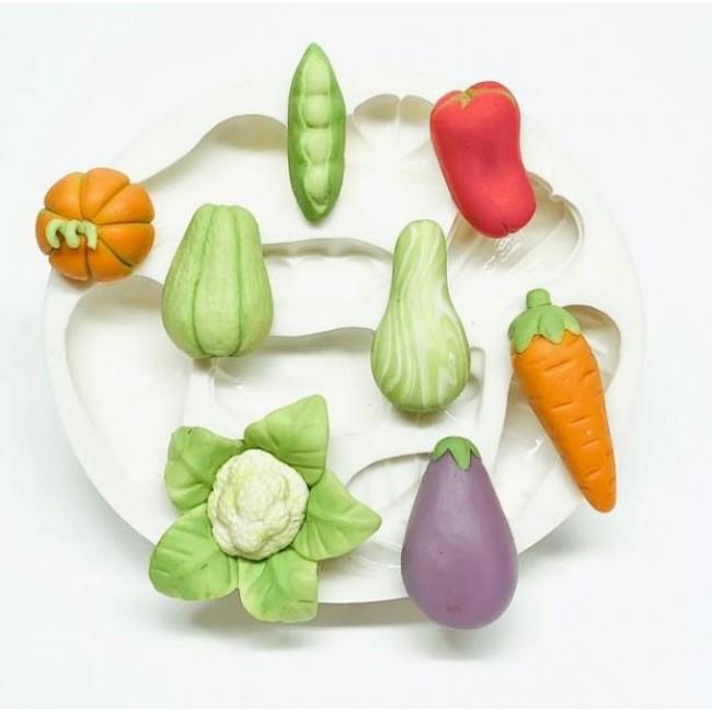 Molde de Silicone Legumes para Decorar