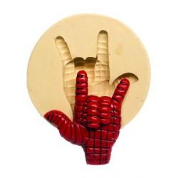 Molde de Silicone Mão do Homem Aranha para Decorar Super Heróis, Vingadores