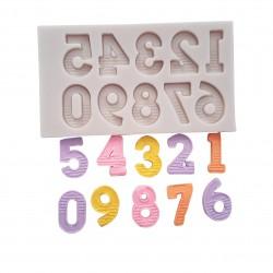 Molde de Silicone Números para Decorar