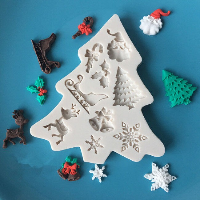 Molde de Silicone para Decorar Natal Vários Itens