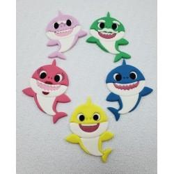 Cortador Kit Baby Shark Corpo Inteiro, Mamma Shark, Daddy Shakr, Grandpa e Granma Shark