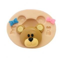 Molde de Silicone Ursa com Laços para Decorar Urso
