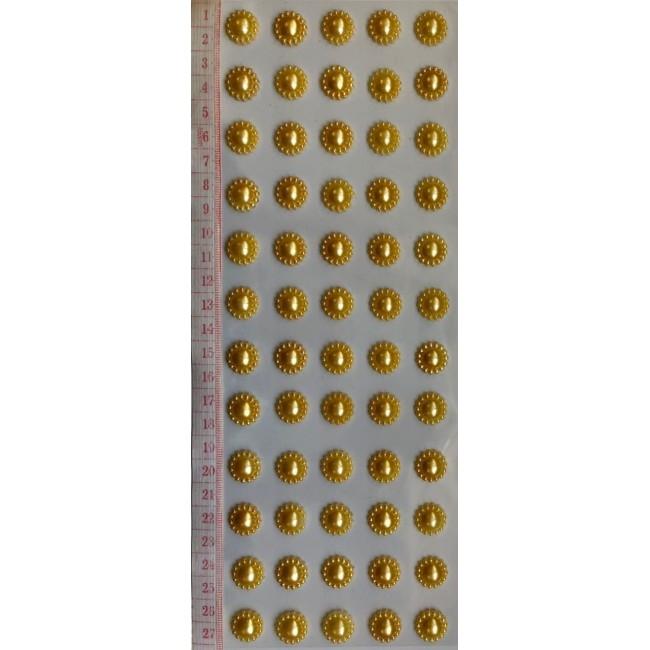 Cartela de Adesivos de Meia Pérola com 60 unidades para Decorar
