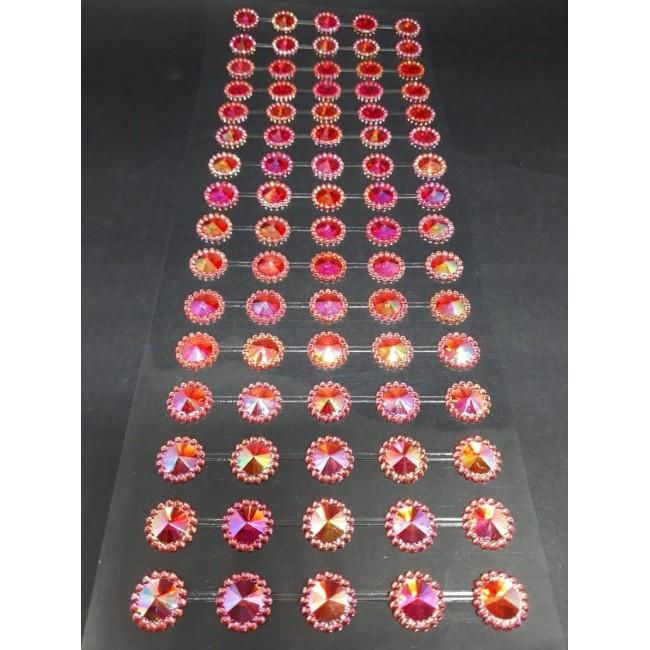 Cartela de Adesivos de Meia Pérola com 80 unidades para Decorar