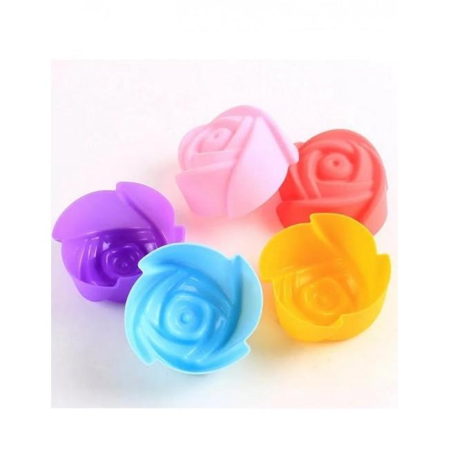 Forma de Silicone Mini Rosa para Doces