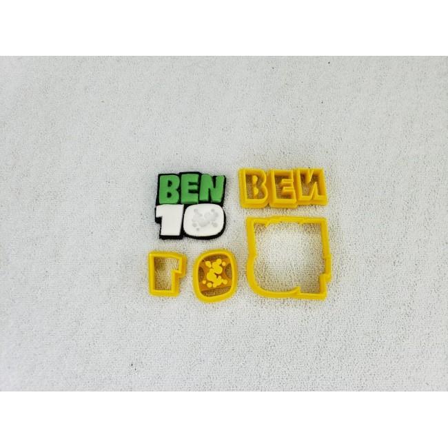 Cortador Ben 10 Logo Pequeno Para Decorar