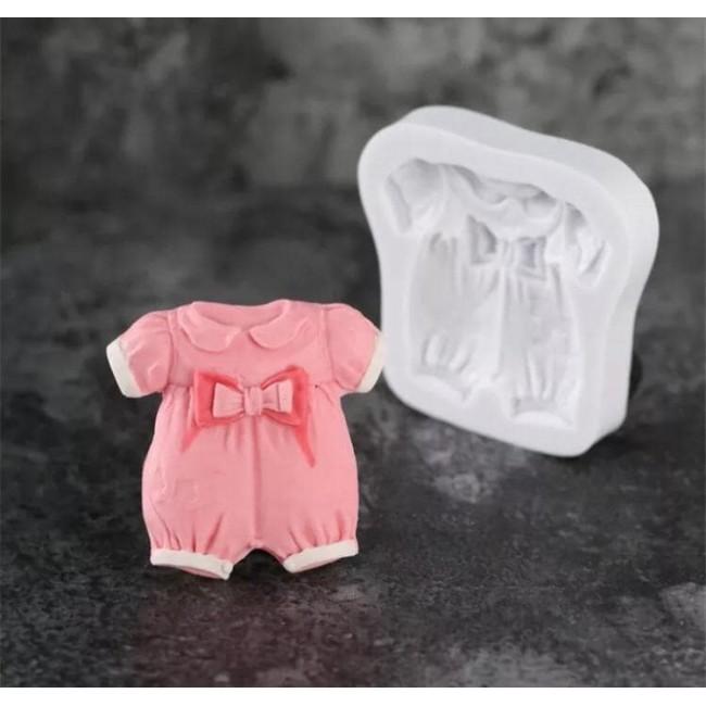 Molde de Silicone Roupa de Bebê para Decorar Chá de Bebe