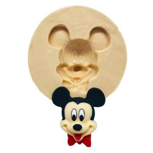Molde de Silicone Rosto do Mickey para Decorar