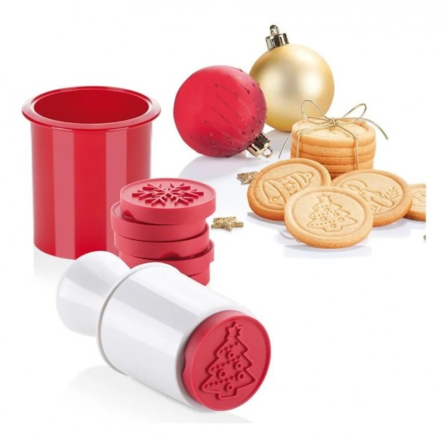 Marcador de Plástico para Decorar Texturas de Natal, Carimbo