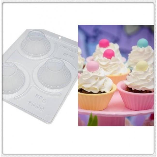Forma Acetato PVC Cupcakes para Decorar Com 3 Partes