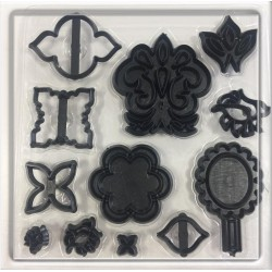Marcador de Flores e Espelhos para Decorar Realeza