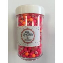 Sprinkles 50gm Cor Vemelho e Alaranjado  para Decorar