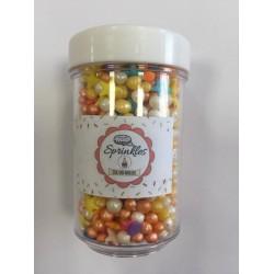 Sprinkles 50gm Cor Amarelo, Rosa e Alaranjado  para Decorar