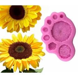 Molde de Silicone Flor Girasol para Decorar