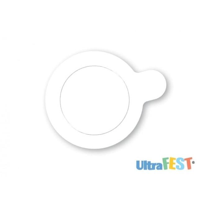 Base Branca Redonda para Doces 5,5cm com 20 Unidades Ultrafest