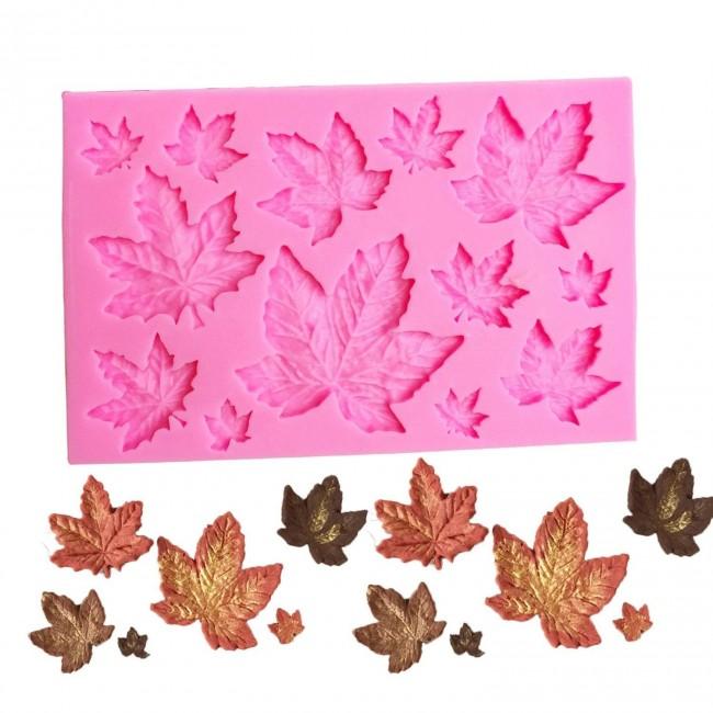 Molde de Silicone Folhas de Outono, Canada