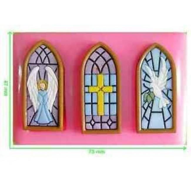 Molde de Silicone Vitral para Decoar Igreja, Casas Religião e Anjos