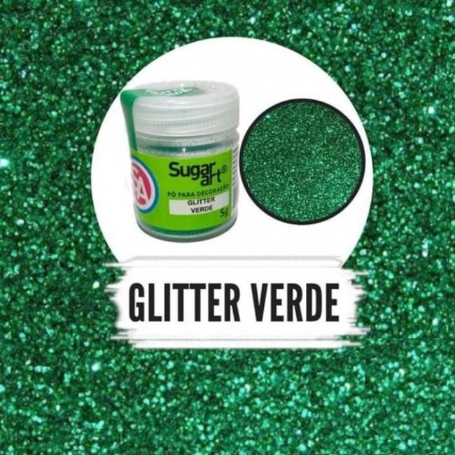 Glitter Verde da Sugar Art para Confeitar