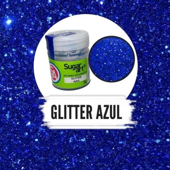 Glitter Sugar Art Azul para Confeitar