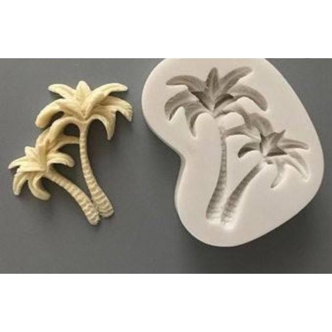 Molde de Silicone Coqueiros para Decorar Ilha, Praia