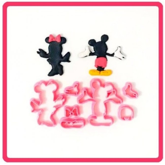 Cortador Mickey e Minnie Silhueta para Decorar