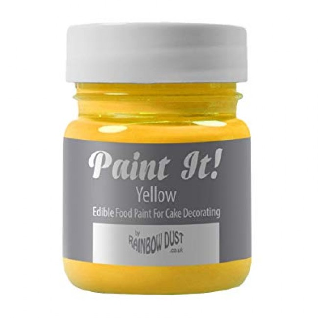 Tinta Comestível Rainbow Dust Amarelo para Decorar