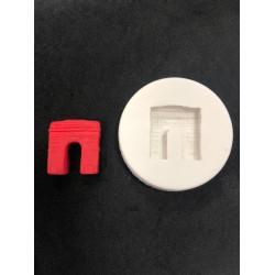 Molde de Silicone Mini Lareira para Decorar