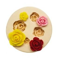 Molde de Silicone 4 Rosas para Decorar