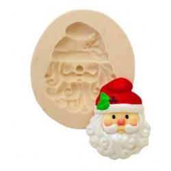 Molde de Silicone Papai Noel para Decorar Natal