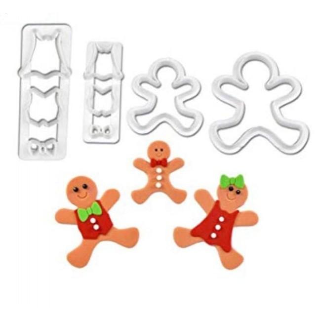 Marcador de Biscoito Boneco de Natal para Decorar