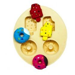 Molde De Silicone Donuts e Sorvetes