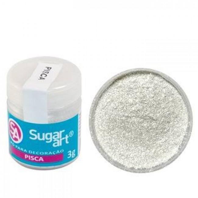 Pó Sugar Art Pisca Para Decoração
