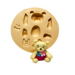 Molde De Silicone Urso 3D Médio