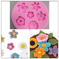 Molde De Silicone Flores Diversas