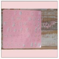 Marcador Placa De Acrilico Alfabeto Maiúsculo Minúsculo Numeros