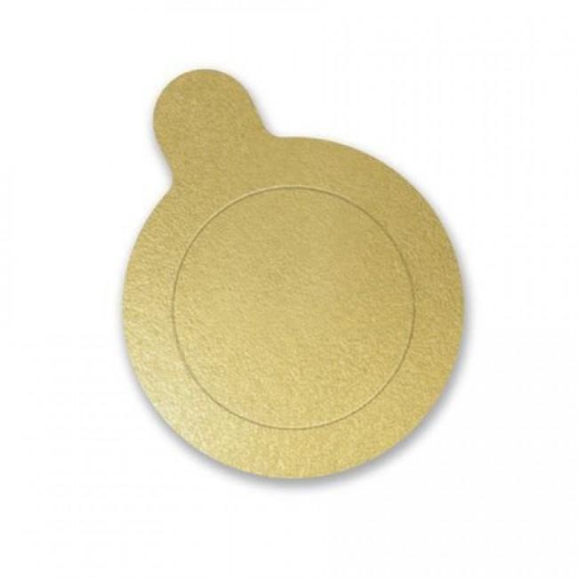 Base Redonda Ouro 3,5cm 50 Unidades