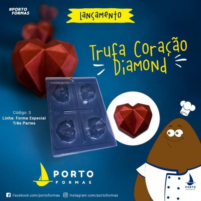 Forma Coração Trufa  Diamante