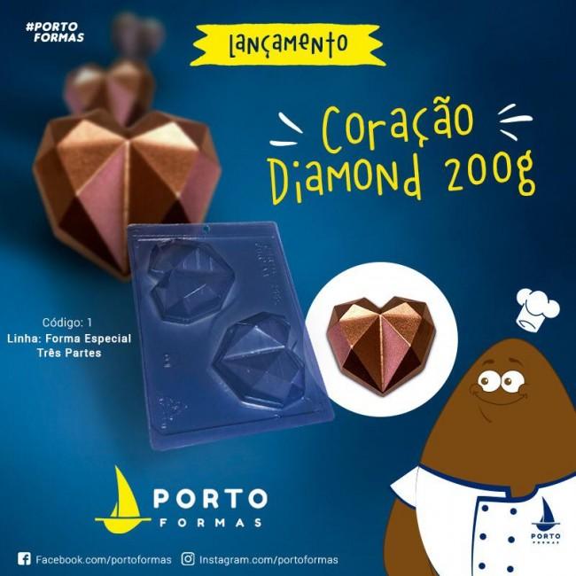Forma Coração Diamante Especial