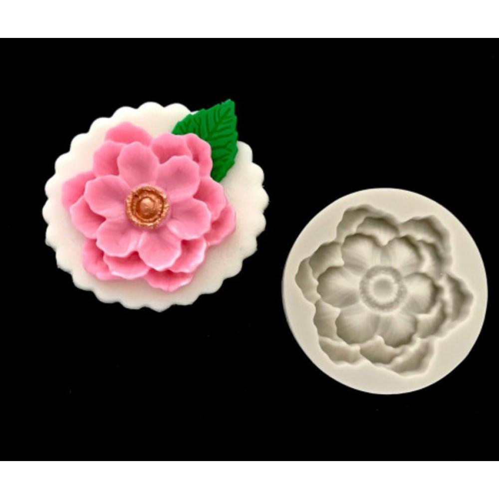Molde De Silicone Flor Para Decorar Cupcakes E Bolos
