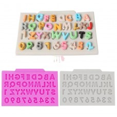 Molde de Silicone Mini Alfabeto Com Letras e Numeros