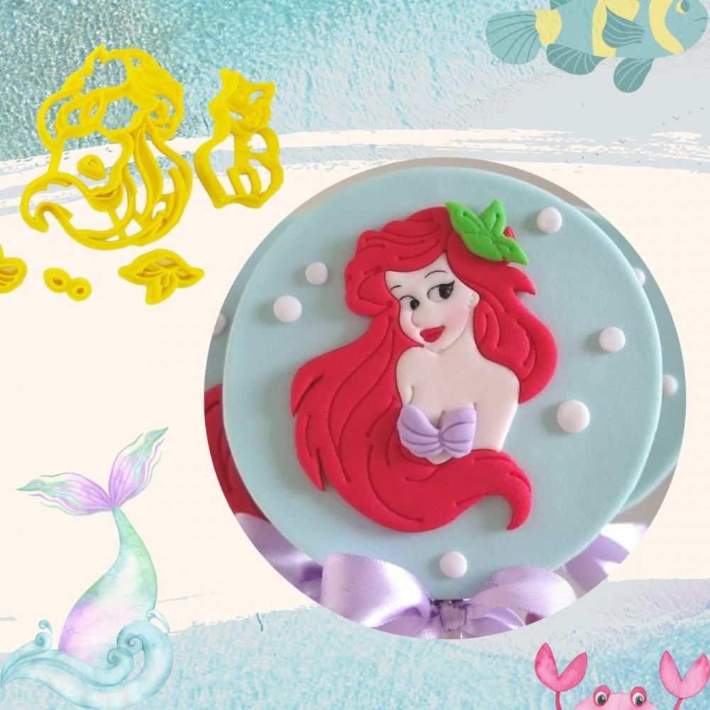 Cortador Princesa Ariel Pequena Sereia Para Decorar