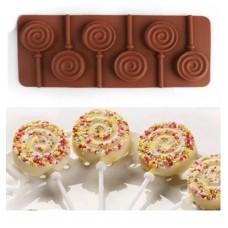 ca60520f9 Forma de Silicone ( 6 uni ) de Pirulito de Chocolate para Confeitar