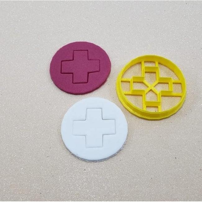 Cortador Simbolo de Hospital para Decorar, Médico, Medicina, Enfermeira, Enfermagem, Fisioterapia