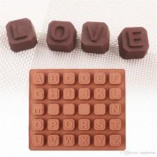21190f797 Forma de Silicone Alfabeto de Chocolate