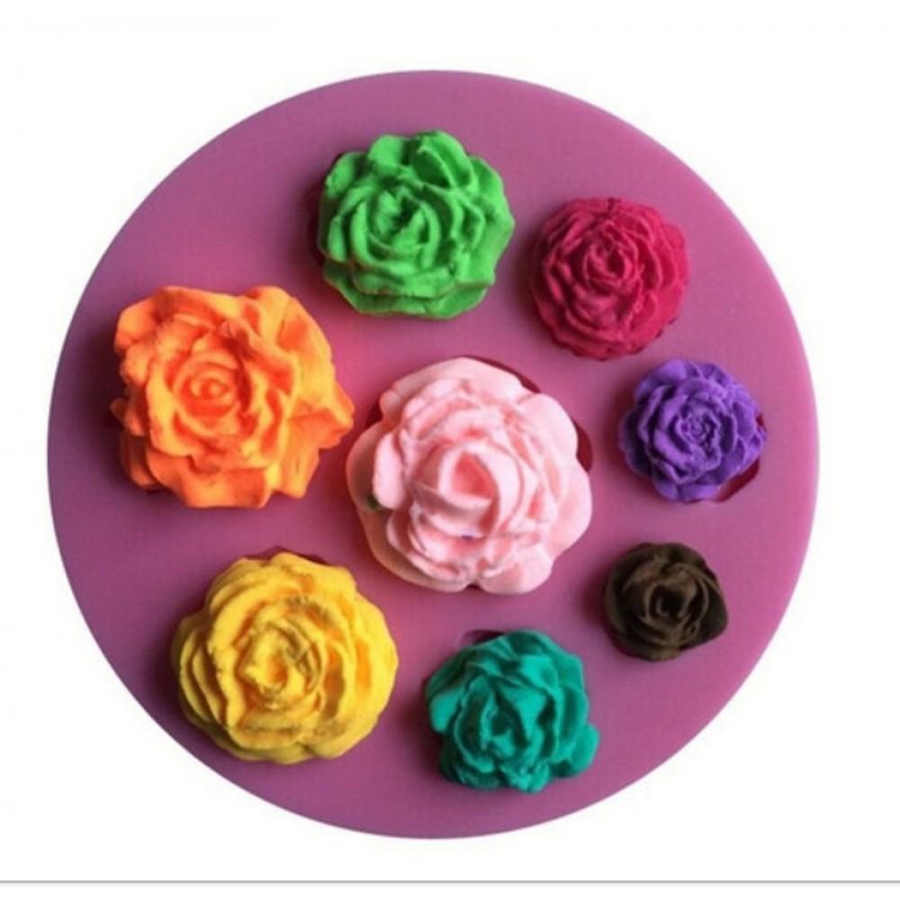 Moldes De Silicone Flores E Rosas Para Decorar Bolo