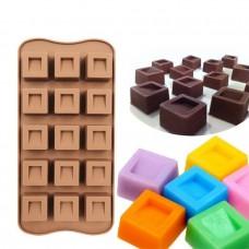 c472428fa Forma de silicone para chocolate quadrada