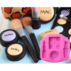Molde Silicone Maquiagem Mac Batom Pasta Americana Bolo d69be78ba18