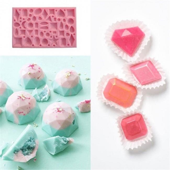 e16fec45f Molde de silicone pedras preciosas, diamantes,doces,festa