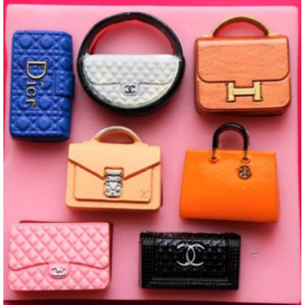 6526626a1 Molde de silicone bolsa de marcas famosas Chanel, Dior,MC